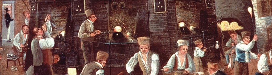 Early roots of the glass industry in the late 17th century