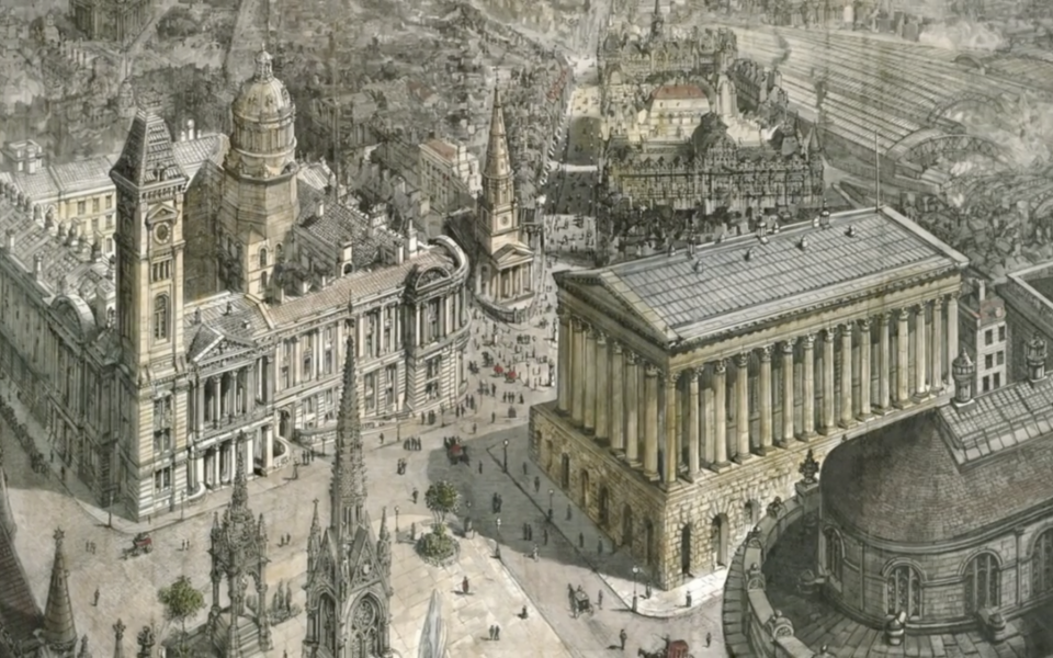 Historic Birmingham Town Hall painting 'comes home'